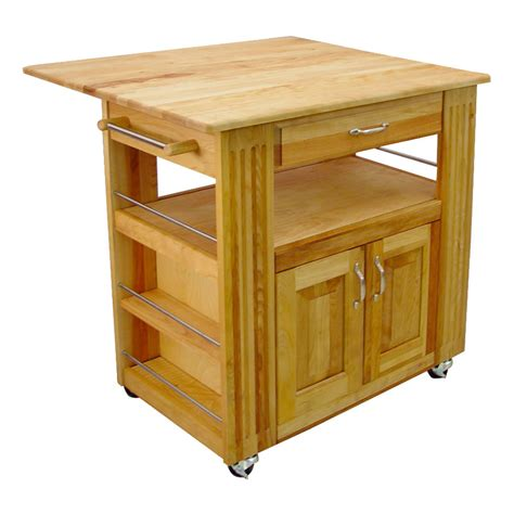 kitchen island with leaf catskill butcher block island cart with drop leaf