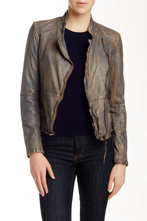 muubaa leather jackets muubaa kendyll genuine leather biker jacket nordstrom rack
