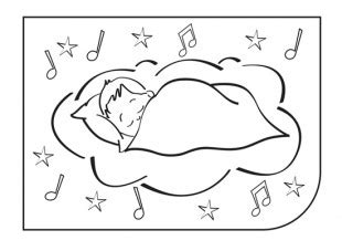 coloring page baby sleeping baby sleeping in cradle colouring picture ichild