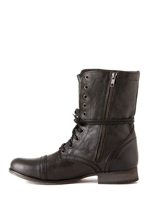 steve madden shoes troopa combat boot in black s