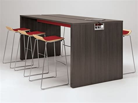 Allsteel Conference Tables Allsteel Harvest Table Take 5 Stools Gather Collaborative Collection Office Furniture