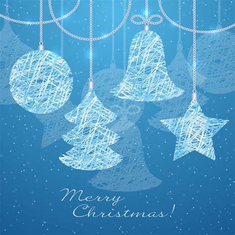 background natal biru tangan dicat biru latar belakang natal vektor natal vektor