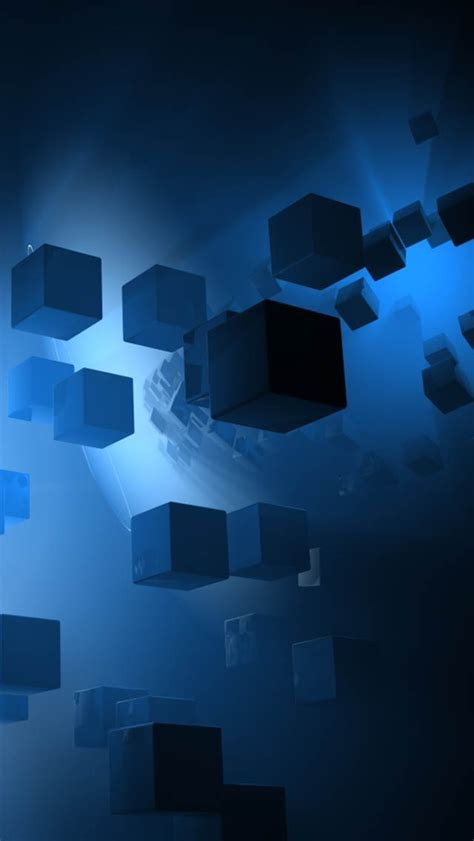 hd wallpapers iphone 5 free download blue 3d cubes wallpaper free iphone wallpapers