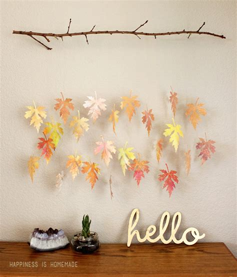 Paper Crafts For Wall Decor - 8 creative diy project ideas for using fall leaves as