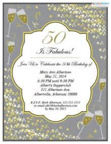 impressive 50th birthday invitation template theruntime