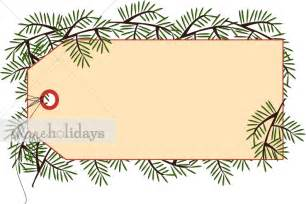 pine gift tag christmas decoration clipart