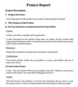 Project Report Samples Sample Project Report Template 6 Documents In Pdf