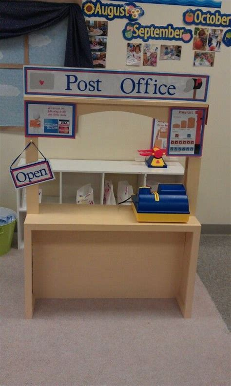post office play area learning about community helpers