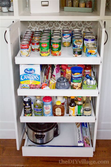 Diy Slide Out Pantry by Slide Out Kitchen Pantry Drawers Inspiration The Inspired Room