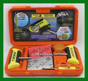 blackjack passenger tire repair kit  bone handles   plugs orange case kt ebay