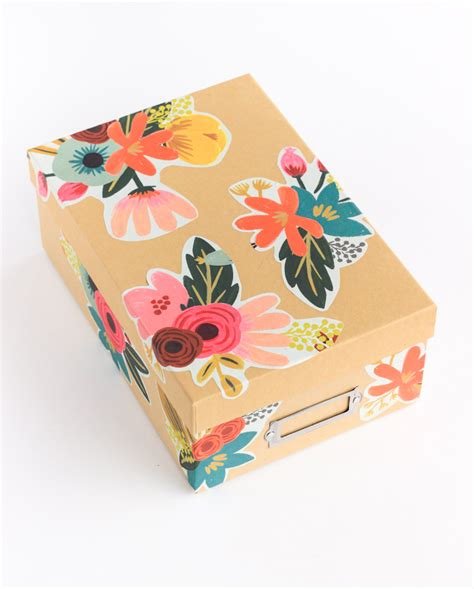 Decoupage A Box - diy floral decoupage storage box the crafted