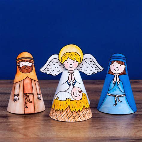 nativity printable christmas craft  kids ready