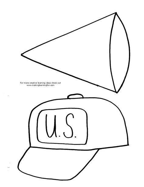 nursing graduation cut outs coloring page nurse hat