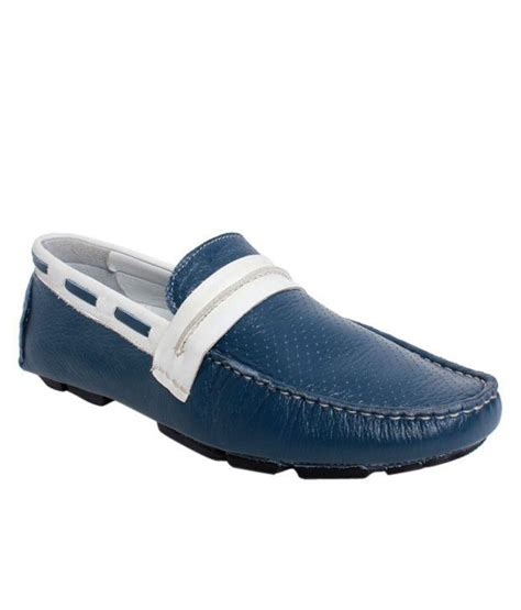 buy delize blue white driving shoes for snapdeal