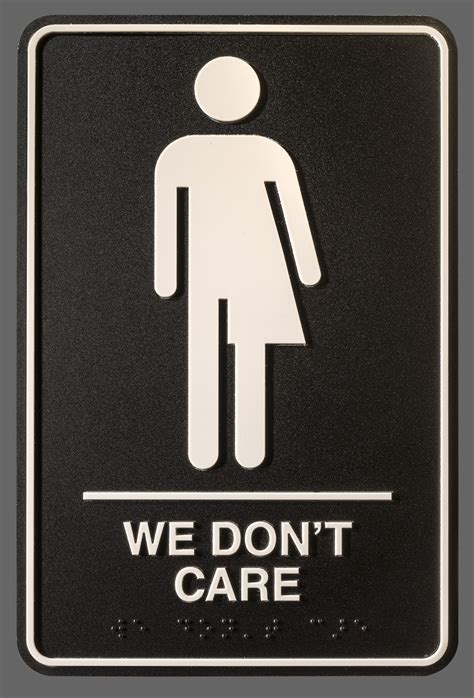 signs for bathroom artist hopes to flush binaries with gender neutral