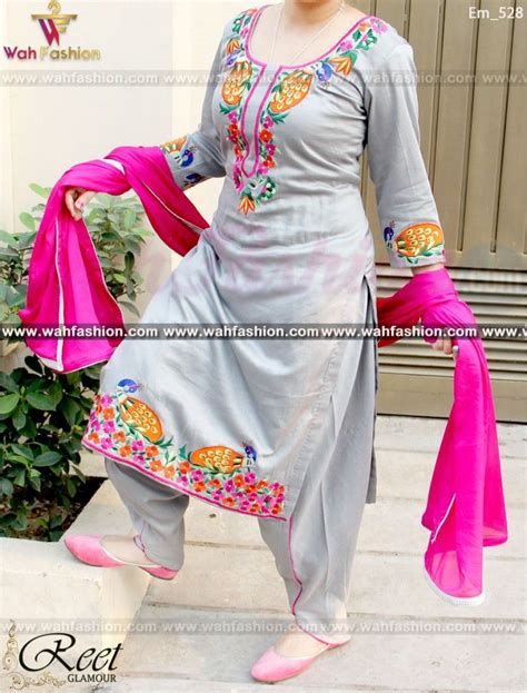 embroidery punjabi suits pinterest resplendent gray embroidered punjabi suit punjabi salwar
