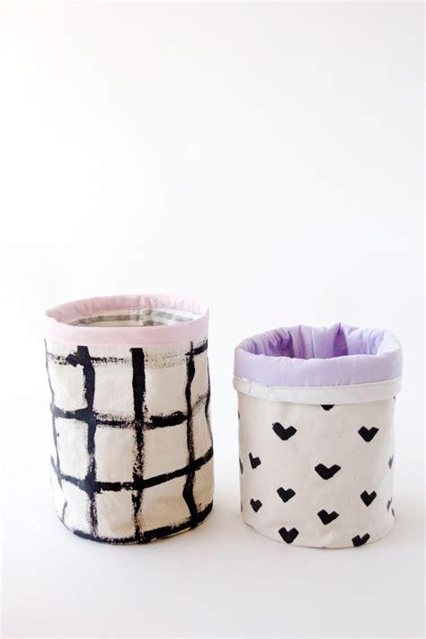 pattern fabric bucket diy fabric basket tutorial with johnson s buckets