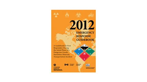 emergency response guidebook yellow section hazmat studies 2012 erg a vital resource for first