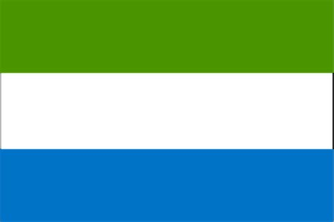 French Speaking Countries Asia - sierra leone flag and description