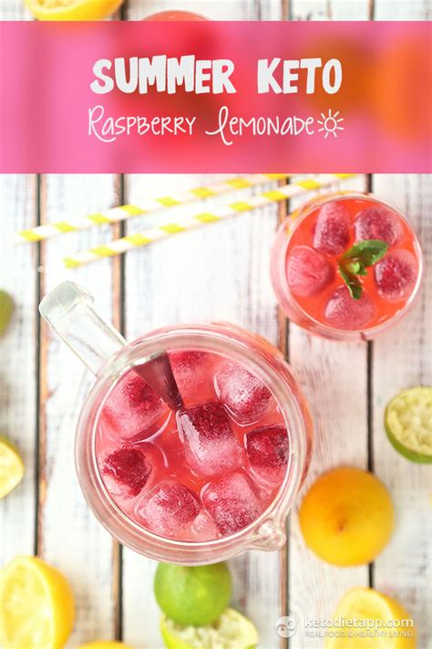 Detoxing Carbs Keto by Summer Keto Raspberry Lemonade The Ketodiet