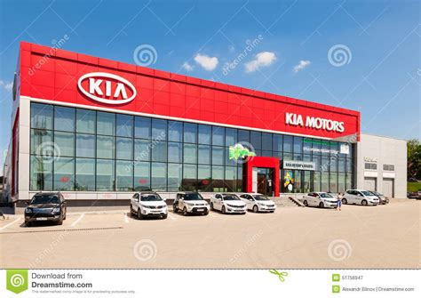 kia delaer office of official dealer kia motors editorial photography