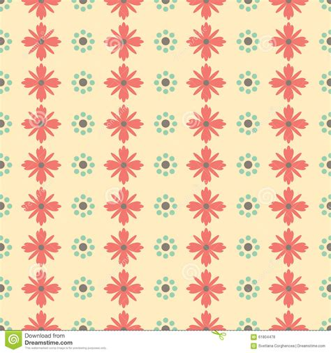 seamless pattern simple simple seamless minimalistic floral pattern stock vector