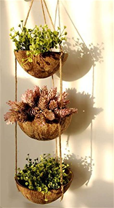78 ideas about hanging pots on pinterest hanging pans exotic elegance 3 tier coconut shell hanging planter pot