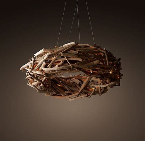 kronleuchter treibholz salvaged driftwood ring chandelier 40 quot lighting for