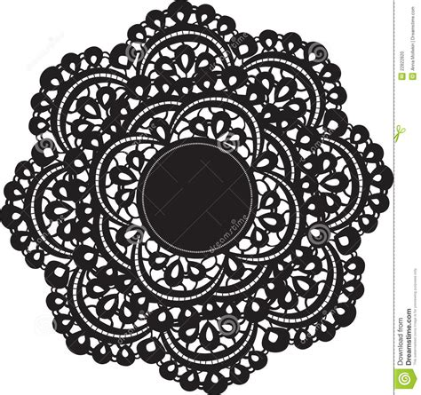 pattern silhouette vector doily stock vector image of frame celebration doily