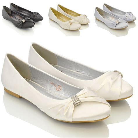 Pumps Braut by Damen Braut Hochzeit Satin Pumps Damen Slipper