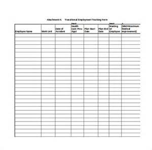 Employee Performance Tracking Template by 10 Employee Tracking Templates Free Sle Exle