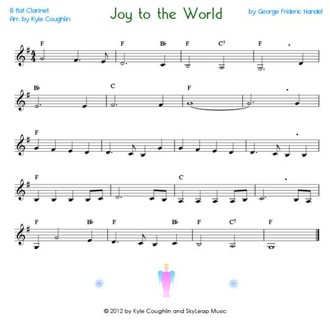 printable version of joy to the world search results for clarinet christmas music free