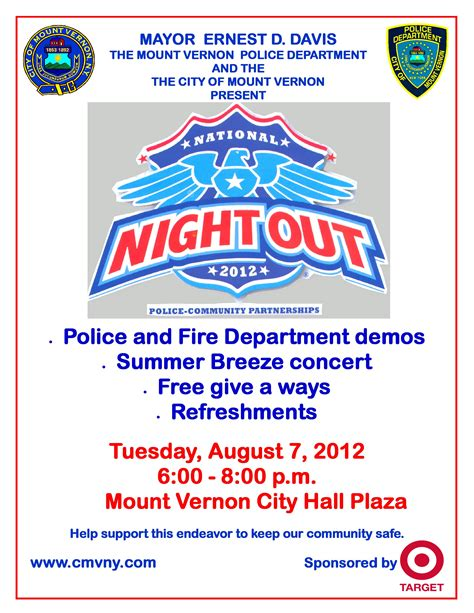 national night out tuesday 8 7 12 city of mount vernon ny