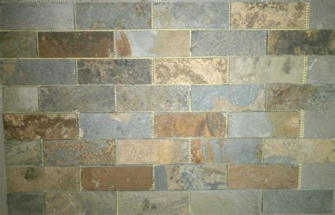 slate mosaic backsplash slate subway pattern mosaic tile kitchen backsplash