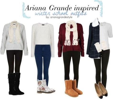 ariana grande inspired   school outfits