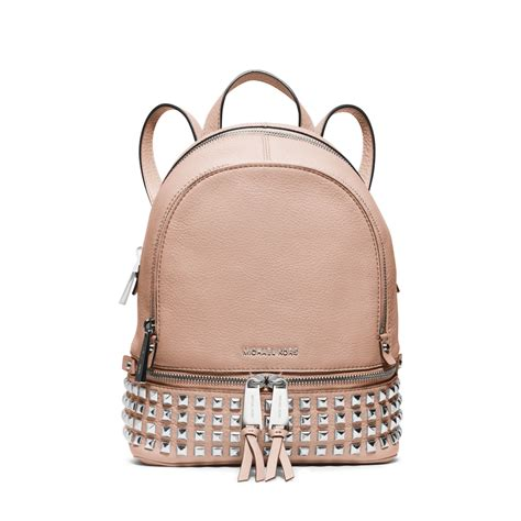 Michael Kors Rhea Backpack michael kors rhea small leather backpack in beige