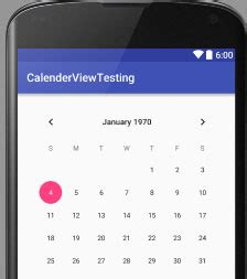 android layout finished event calendar view tutorial with exle in android studio