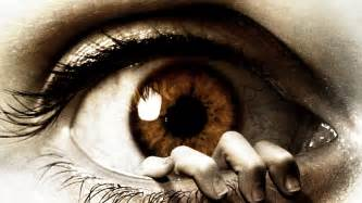 Download Wallpaper 1920x1080 The eye, Fear, Horror, Hand