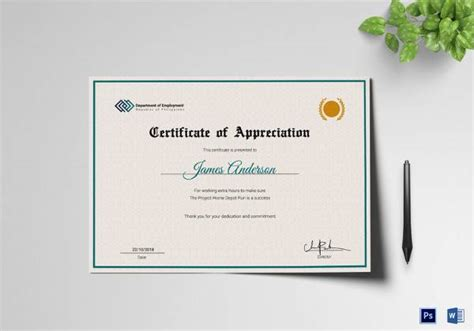 employee certificate of service template 10 certificate of service templates to for free