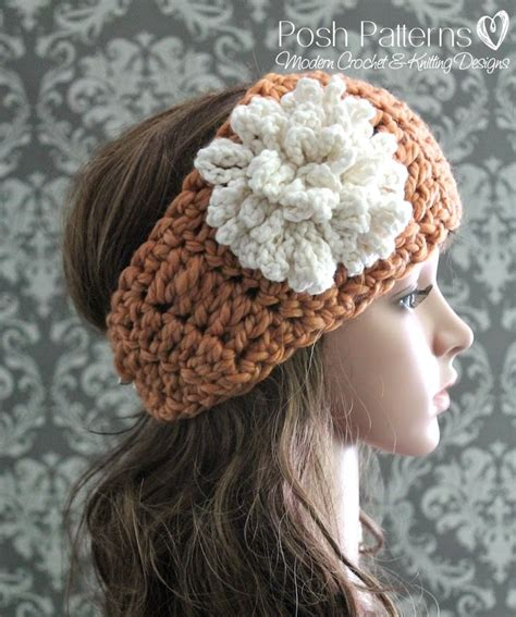 free crochet pattern flowers headbands posh patterns easy crochet patterns and knitting patterns