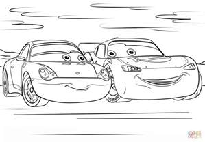 lightning mcqueen and sally from cars 3 coloring page