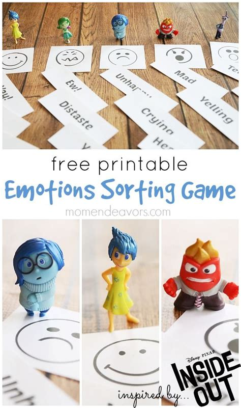 disney pixar inside out free printables free printable emotions sorting game inspired by disney