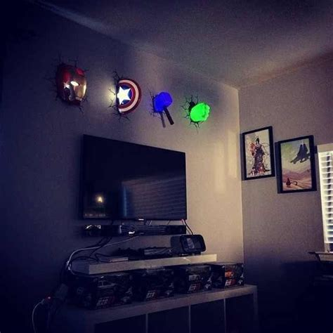 Super Hero Room How Awesome Perfect For A Night Light Boys Lights For Bedroom