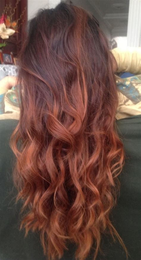 ombre hair coloring milwaukee red ombre nails and hair pinterest red ombre ombre