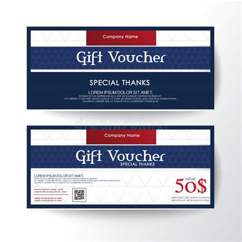 gift card layout template gift voucher template with premium vintage pattern vector