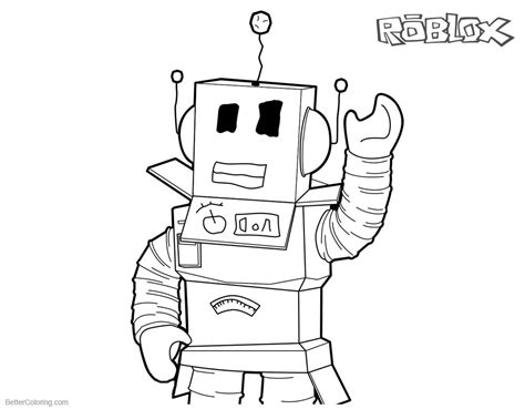 printable coloring pages roblox roblox coloring pages robot line art free printable