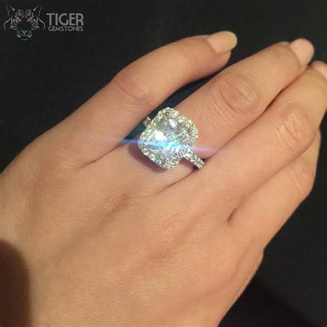 real 4 carat rings wedding promise