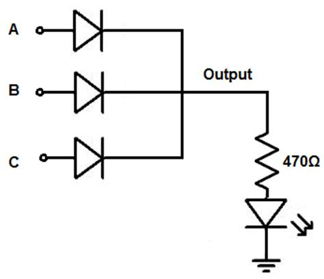 diode circuits gate questions led alternatively powered by different voltages physics forums the fusion of science and