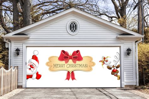 merry garage door covers 3d banners by decalhouse