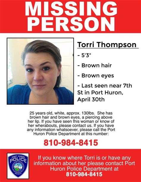 Port Huron Arrest Records Port Huron Search For Missing 25 Year Last
